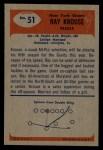 1955 Bowman #51   Ray Krouse Back Thumbnail
