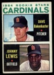 1964 Topps #479   -  Dave Bakenhaster / Johnny Lewis Cardinals Rookies Front Thumbnail