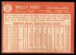 1964 Topps #253   Wally Post Back Thumbnail