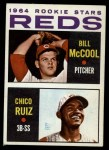 1964 Topps #356   Reds Rookie Stars  -  Bill McCool / Chico Ruiz Front Thumbnail
