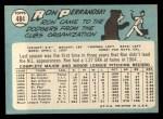 1965 Topps #484  Ron Perranoski  Back Thumbnail