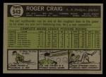 1961 Topps #543  Roger Craig  Back Thumbnail