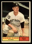 1961 Topps #95  Norm Cash  Front Thumbnail