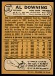 1968 Topps #105  Al Downing  Back Thumbnail