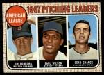 1968 Topps #10 COR 1967 AL Pitching Leaders  -  Dean Chance / Jim Lonborg / Earl Wilson Front Thumbnail