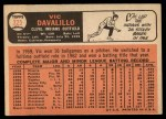 1966 Topps #325  Vic Davalillo  Back Thumbnail