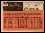 1966 Topps #140   Jim Maloney Back Thumbnail