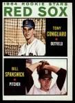 1964 Topps #287  Red Sox Rookies  -  Tony Conigliaro / Bill Spanswick Front Thumbnail