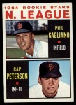 1964 Topps #568  NL Rookies  -  Phil Gagliano / Cap Peterson Front Thumbnail