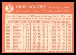 1964 Topps #39  Hank Aguirre  Back Thumbnail