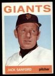 1964 Topps #414   Jack Sanford Front Thumbnail