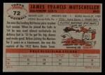 1956 Topps #72   Jim Mutscheller Back Thumbnail