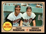 1968 Topps #530  Bird Belters  -  Frank Robinson / Brooks Robinson Front Thumbnail