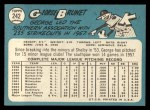 1965 Topps #242   George Brunet Back Thumbnail