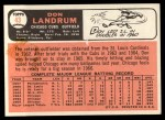 1966 Topps #43 ERR 1  Don Landrum Back Thumbnail