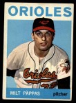 1964 Topps #45   Milt Pappas Front Thumbnail