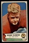 1954 Bowman #77   Richard Yelvington Front Thumbnail