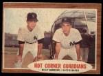 1962 Topps #163 A  -  Billy Gardner / Clete Boyer Hot Corner Guardians Front Thumbnail
