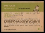 1961 Fleer #19   Bob Gain Back Thumbnail