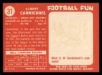 1958 Topps #31   Al Carmichael Back Thumbnail
