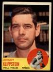 1963 Topps #571   Johnny Klippstein Front Thumbnail