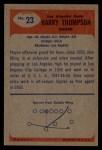 1955 Bowman #23   Harry Thompson Back Thumbnail