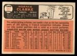 1966 Topps #547  Horace Clarke  Back Thumbnail