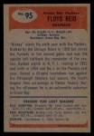 1955 Bowman #95  Floyd Reid  Back Thumbnail