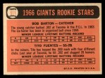 1966 Topps #511  Giants Rookies  -  Tito Fuentes / Bob Barton Back Thumbnail
