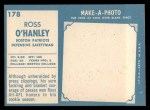 1961 Topps #178   Ross OHanley Back Thumbnail