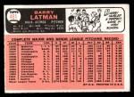 1966 Topps #451  Barry Latman  Back Thumbnail