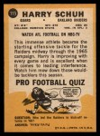 1967 Topps #115  Harry Schuh  Back Thumbnail