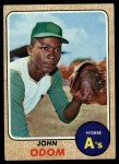 1968 Topps #501  Blue Moon Odom  Front Thumbnail
