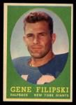 1958 Topps #1   Gene Filipski Front Thumbnail