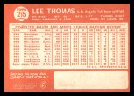 1964 Topps #255   Lee Thomas Back Thumbnail