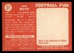 1958 Topps #21  Bob Boyd  Back Thumbnail