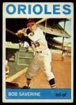 1964 Topps #221   Bob Saverine Front Thumbnail