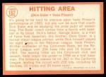 1964 Topps #162  Hitting Area  -  Dick Sisler / Vada Pinson Back Thumbnail
