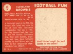 1958 Topps #9   Browns Team Back Thumbnail
