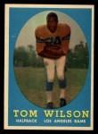 1958 Topps #67   Tom Wilson Front Thumbnail