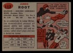 1957 Topps #112  Jim Root  Back Thumbnail