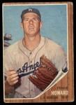 1962 Topps #175 A Frank Howard  Front Thumbnail