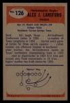 1955 Bowman #126   Alex Lansford Back Thumbnail