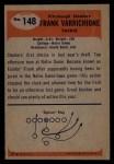 1955 Bowman #148  Frank Varrichione  Back Thumbnail