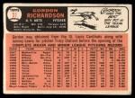 1966 Topps #51   Gordon Richardson Back Thumbnail