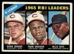 1966 Topps #219   -  Deron Johnson / Willie Mays / Frank Robinson NL RBI Leaders Front Thumbnail