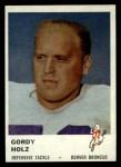 1961 Fleer #154   Gordy Holz Front Thumbnail