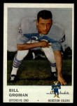 1961 Fleer #172  Bill Groman  Front Thumbnail