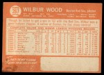 1964 Topps #267  Wilbur Wood  Back Thumbnail