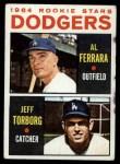 1964 Topps #337  Dodgers Rookies  -  Al Ferrara / Jeff Torborg Front Thumbnail